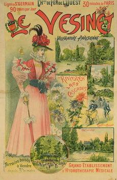 Reprodução do quadro Poster for the Chemins de Fer de l'Ouest to Le Vesinet, c.1895-1900