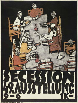 Reprodução do quadro Poster for the Vienna Secession, 49th Exhibition, Die Freunde, 1918