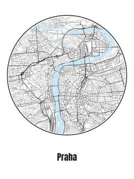 Mapa de Praha