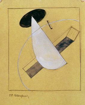 Reprodução do quadro Proun 18, 1919-20