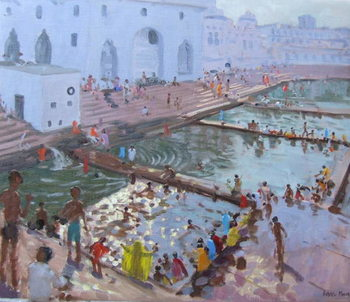 Reprodução do quadro Pushkar ghats, Rajasthan