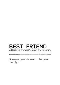 Ilustração Quote Best Friend Family