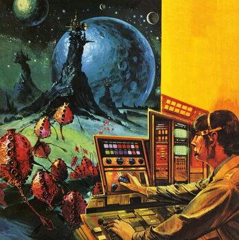Reprodução do quadro Radio astronomers searching for extraterrestrial life