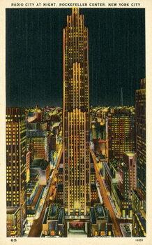 Reprodução do quadro Radio City at night, Rockefeller Center, New York City, USA
