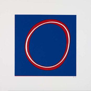 Reprodução do quadro Red Circle on Blue