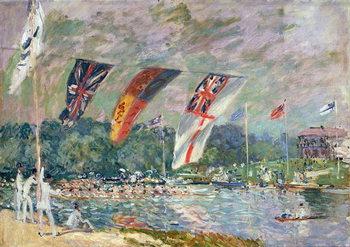 Reprodução do quadro Regatta at Molesey, 1874 (oil on canvas)