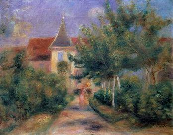 Reprodução do quadro Renoir's house at Essoyes, 1906 ,