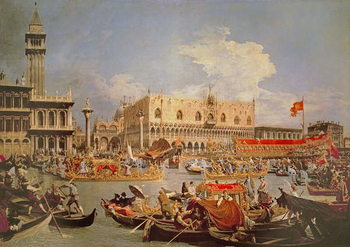 Reprodução do quadro Return of the Bucintoro on Ascension Day
