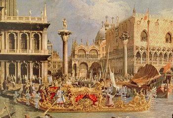 Reprodução do quadro Return of the Bucintoro on Ascension Day (oil on canvas)