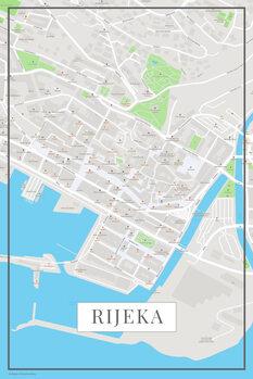 Mapa de Rijeka color