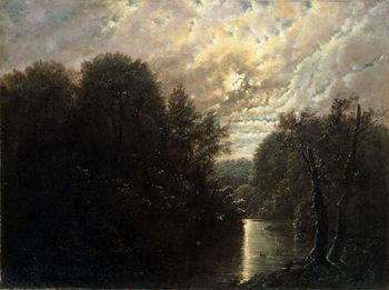 Reprodução do quadro River Landscape in the Rosental near Leipzig