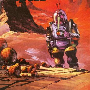 Reprodução do quadro Robots envisaged on the red planet
