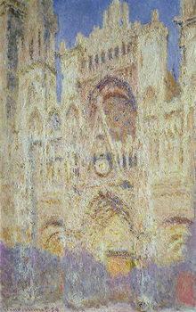 Reprodução do quadro Rouen Cathedral at Sunset, 1894