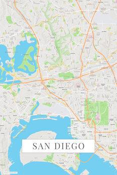 Mapa San Diego color