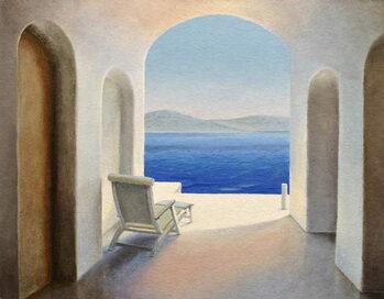 Reprodução do quadro Santorini 9
