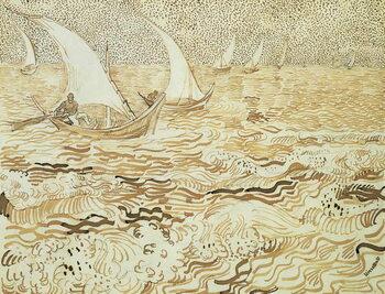 Reprodução do quadro Seascape at Saintes-Maries-de-la-Mer, 1888