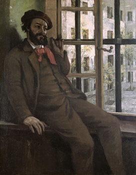 Reprodução do quadro Self Portrait at Sainte-Pelagie, 1871