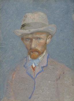 Reprodução do quadro Self-Portrait with gray felt hat, 1887