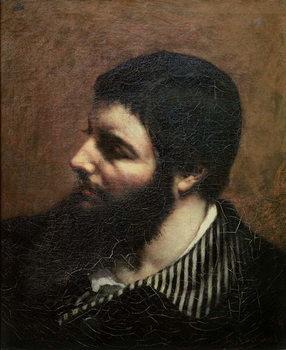 Reprodução do quadro Self Portrait with Striped Collar