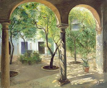 Reprodução do quadro Shaded Courtyard, Vianna Palace, Cordoba