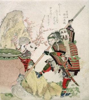 Reprodução do quadro Sima Wengong (Shiba Onko) and Shinozuka, Lord of Iga (Shinozuka-iga-no-teami), 1821