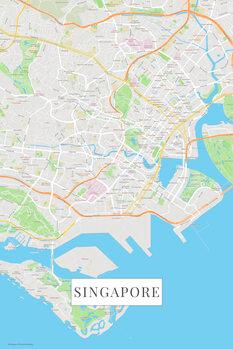 Mapa de Singapore color