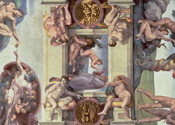 Reprodução do quadro Sistine Chapel Ceiling (1508-12): The Creation of Eve, 1510 (fresco)