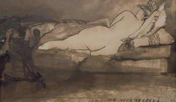Reprodução do quadro Sleeping Nude
