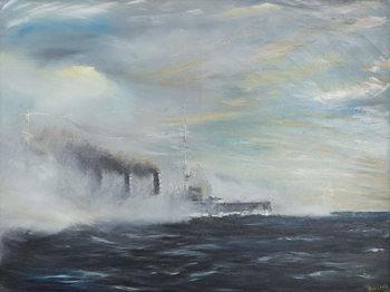 Reprodução do quadro SMS Emden 'The Swan of the East' 1914, 2011,
