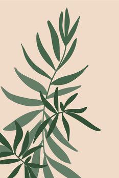 Ilustração Solid greenery in green