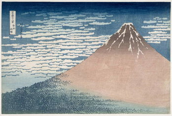 Reprodução do quadro South Wind, Clear Dawn, from the series '36 Views of Mount Fuji', c.1830-1831