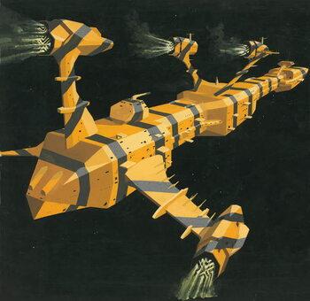 Reprodução do quadro Space station