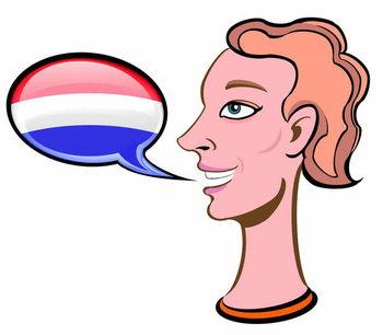 Reprodução do quadro Speaking Dutch - illustration
