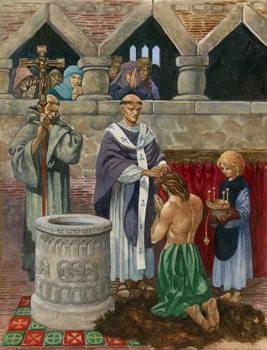 Reprodução do quadro St Augustine baptising King Ethelbert