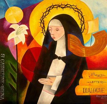 Reprodução do quadro St. Catherine of Siena, 2007