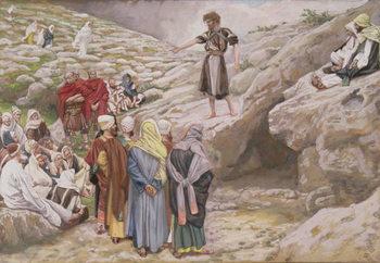 Reprodução do quadro St. John the Baptist and the Pharisees, illustration for 'The Life of Christ', c.1886-96