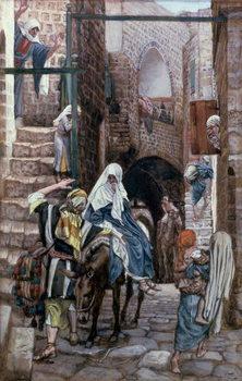 Reprodução do quadro St. Joseph Seeks Lodging in Bethlehem, illustration for 'The Life of Christ', c.1886-94