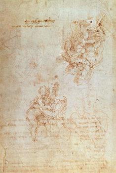 Reprodução do quadro Studies of Madonna and Child