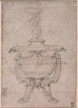 Reprodução do quadro Study of a decorative urn