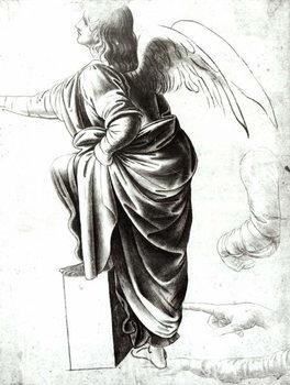 Reprodução do quadro Study of an Angel (chalk on paper)