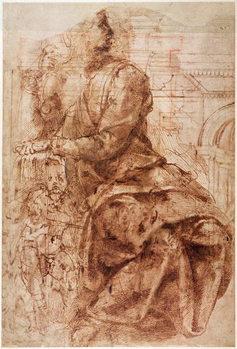 Reprodução do quadro Study of Sibyl