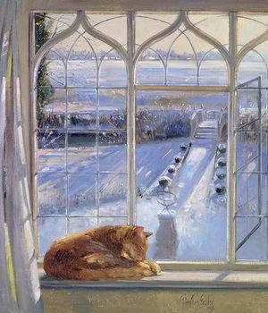 Reprodução do quadro Sundial and Cat