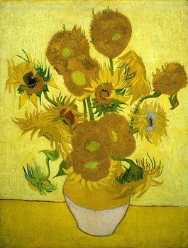 Reprodução do quadro Sunflowers, 1889