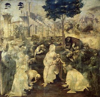 Reprodução do quadro The Adoration of the Magi, 1481-2