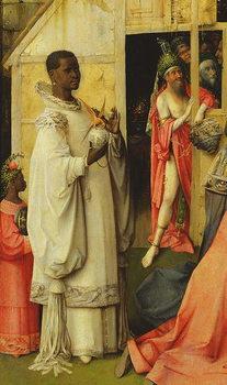 Reprodução do quadro The Adoration of the Magi, detail of one of the kings, 1510 (oil on panel)