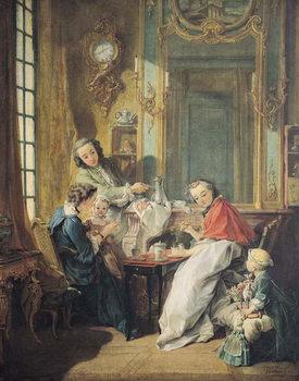 Reprodução do quadro The Afternoon Meal, 1739
