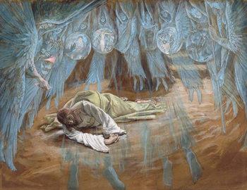 Reprodução do quadro The Agony in the Garden, illustration for 'The Life of Christ', c.1886-94