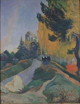 Reprodução do quadro The Alyscamps, Arles, 1888