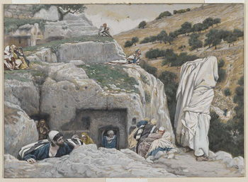 Reprodução do quadro The Apostles' Hiding Place, illustration from 'The Life of Our Lord Jesus Christ', 1886-94