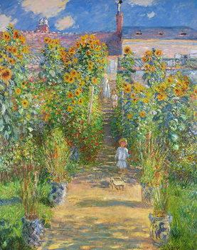 Reprodução do quadro The Artist's Garden at Vetheuil, 1880